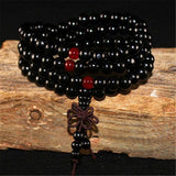 Black Mala Beads & Bracelets | 108 Wooden Beads Mala for Yoga/Meditation/Fashion