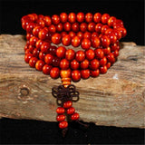 Red Mala Beads & Bracelets | 108 Wooden Beads Mala for Yoga/Meditation/Fashion