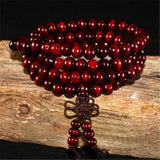 Deep Red Mala Beads & Bracelets | 108 Wooden Beads Mala for Yoga/Meditation/Fashion