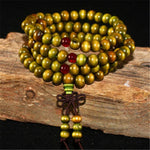 Green Mala Beads & Bracelets | 108 Wooden Beads Mala for Yoga/Meditation/Fashion