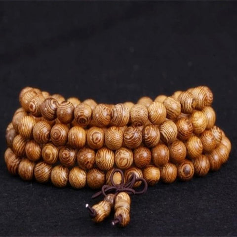 Rosary Wooden Mala Beads | Tibetan Buddhist Prayer Beaded Mala and Bracelet for Men/ Women
