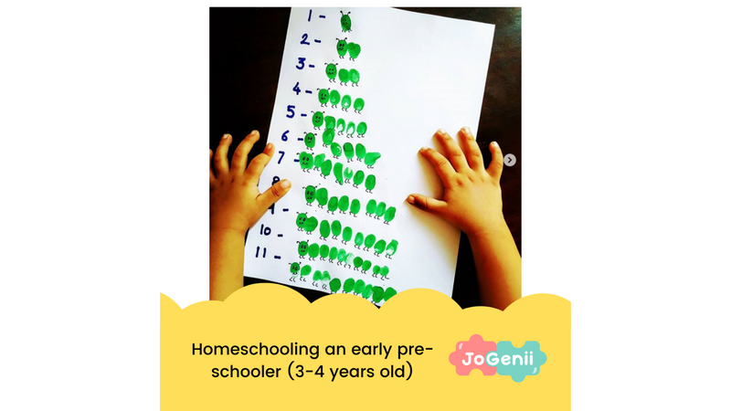 Homeschooling an early pre-schooler (3 - 4 year old)