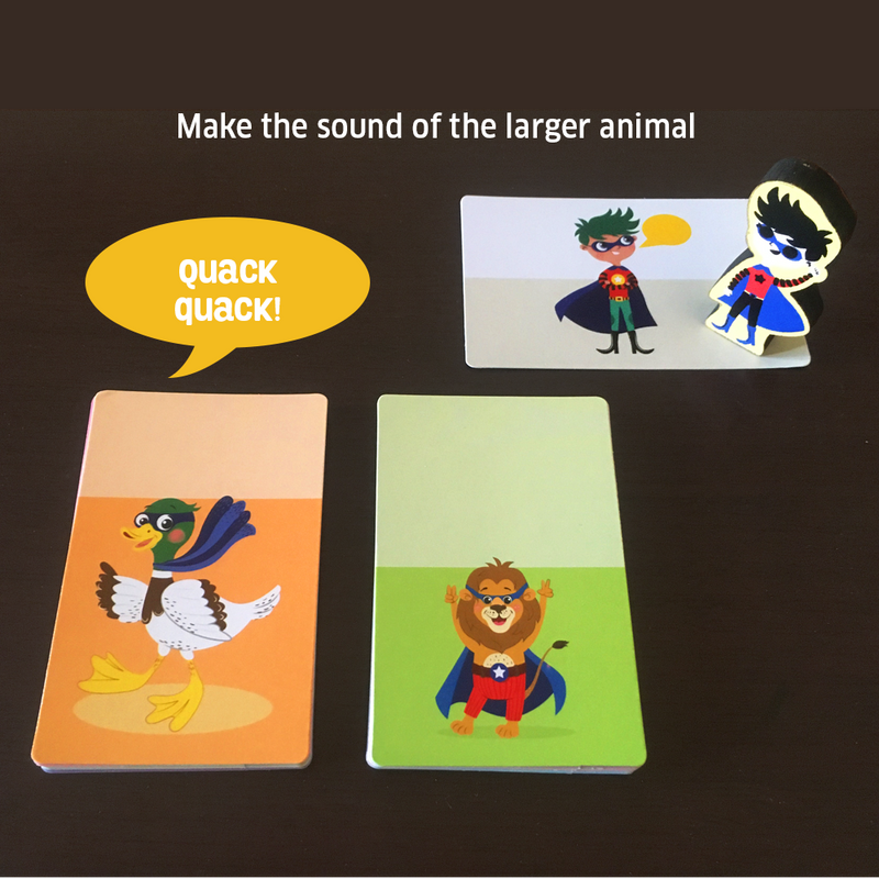 Superhero Animal Focus Card Game