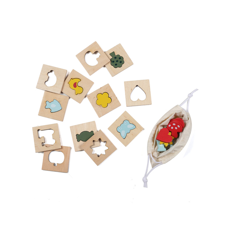Toyroom Wooden Feel and Match Memory Game