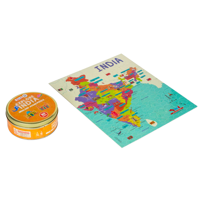 India Map Jigsaw Puzzle 30 pieces