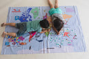 Hop Around the World - Giant World Map Twister Game