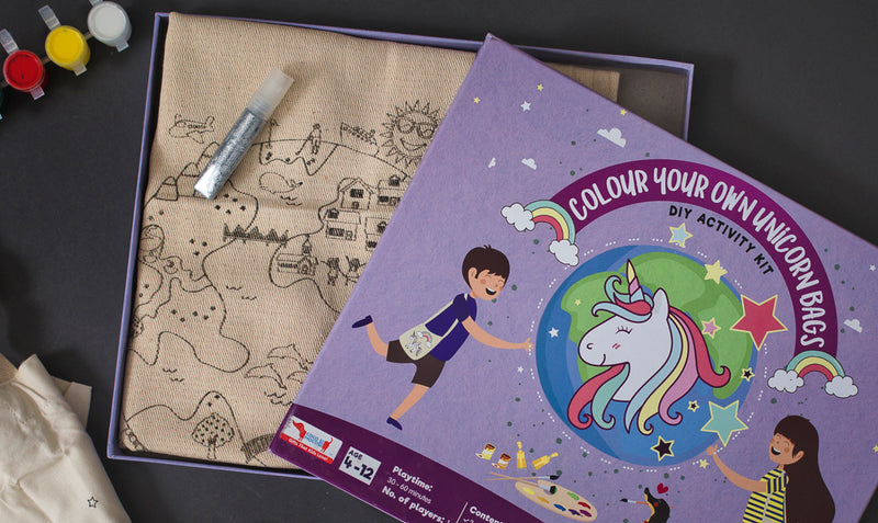 DIY Activity Combo Pack (Block Printing and Unicorn Bag)