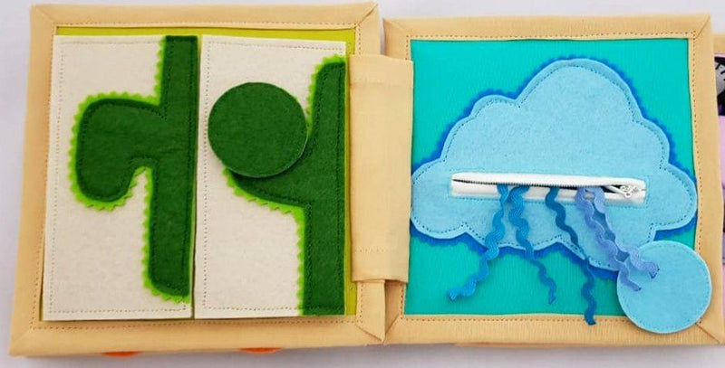 Colors In My World - Mini Quiet Book/ Cloth Book/Soft Book