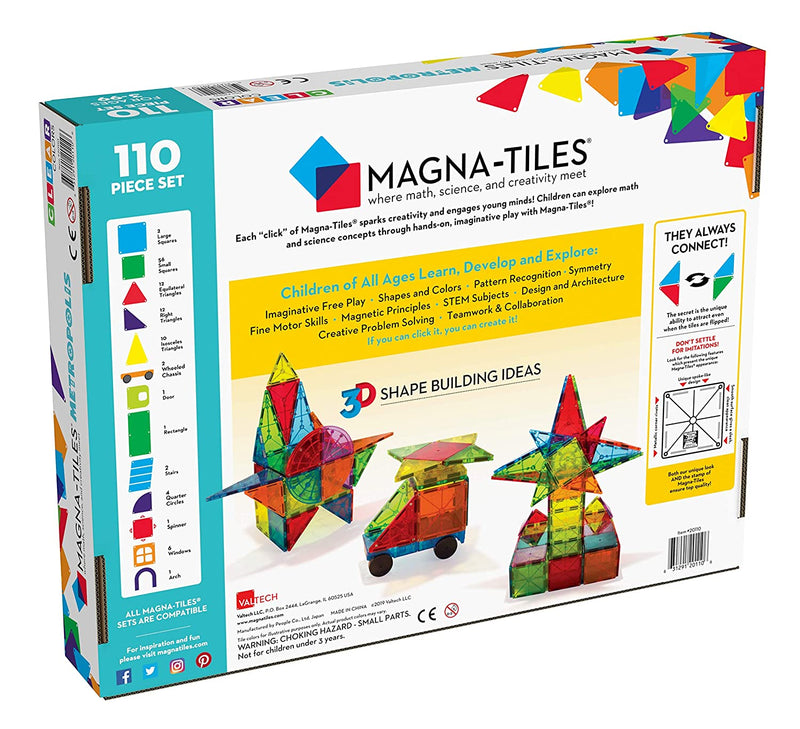 Magna Tiles Metropolis - 110 pieces