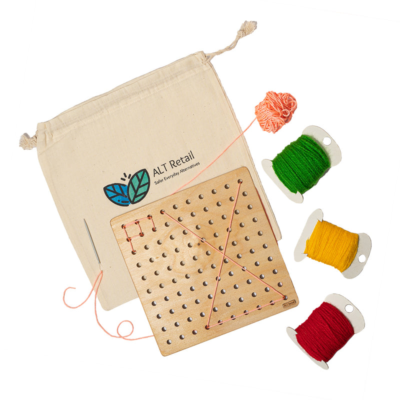 Children's Sewing/Lacing Board
