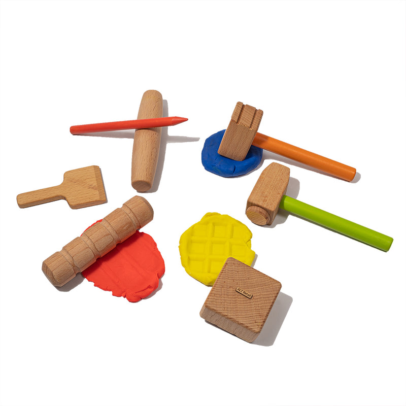 Wooden Stamping Kit for Play dough
