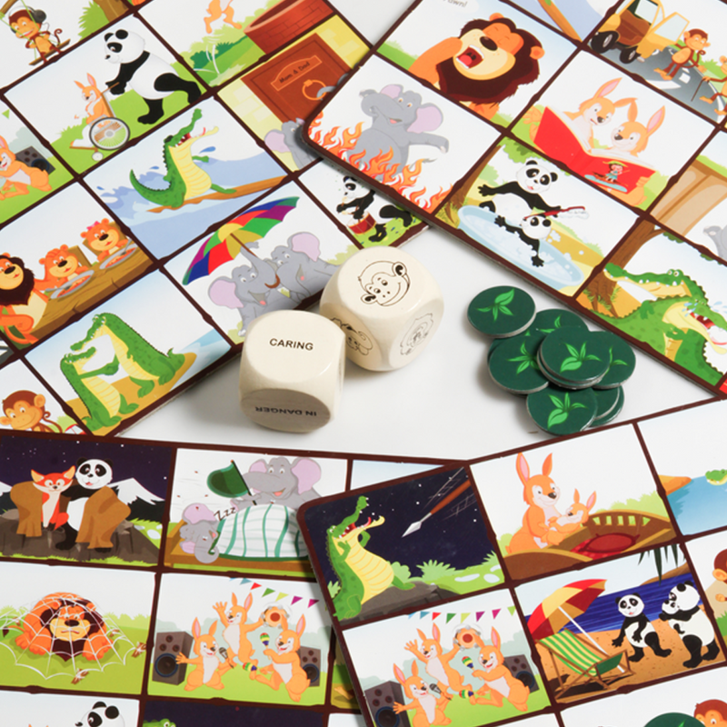 A Day in The Jungle Picture Bingo - Social Emotional Skills