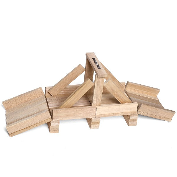 Toyroom Wooden  Planks / Building Bricks (50 Pieces)
