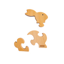 3 Piece Chunky Wooden Puzzle - Bunny
