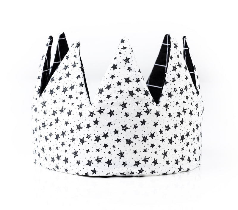 CROWN - BLACK & WHITE STARS
