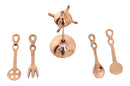 Brass Spoon stand pretend play set, Pital ka chamach stand