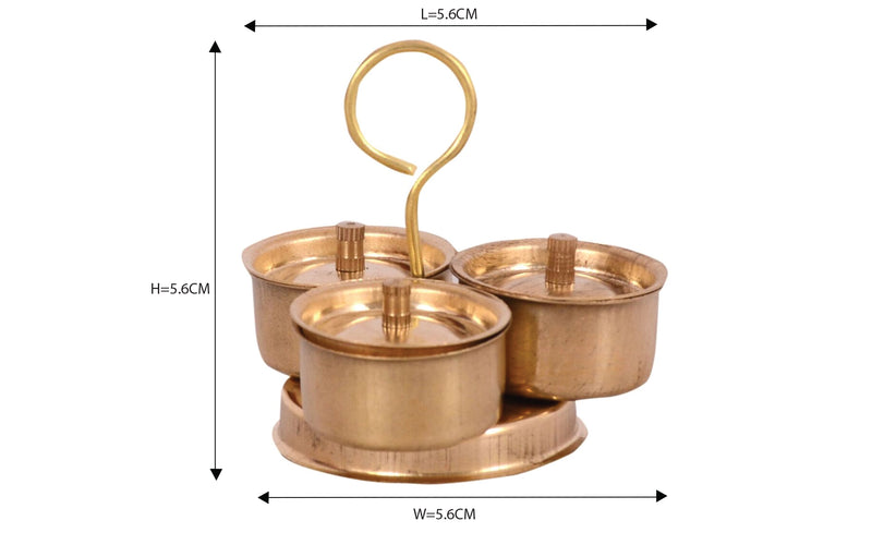 Brass Pretend Playset Trimukh