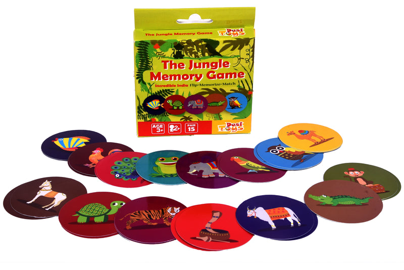 Jungle Memory Card Game