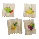 Fruit Popsicles Puzzle : 4 in 1
