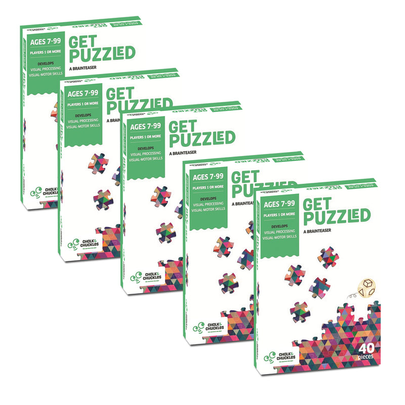 Get Puzzled 40 Piece Jigsaw Puzzles -Pack of 5