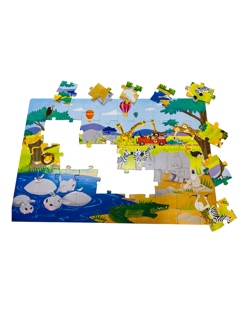 2 IN 1 JUNGLE SAFARI PUZZLE