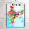 India Map Monuments | 16 X 24 Inches