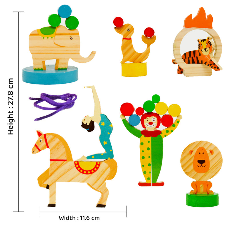 3 in 1 Open Ended Free Play Toys - The Circus