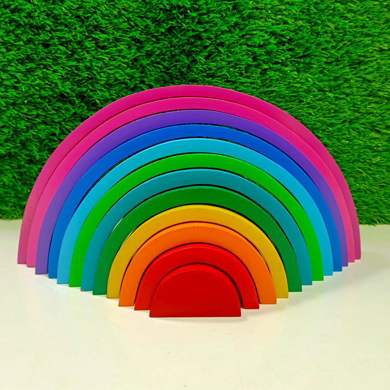 Rainbow Giant Stacker With 12 Pieces