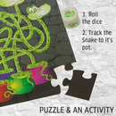 Moody Snakes Puzzle 40 Piece Jigsaw Puzzle with a Maze