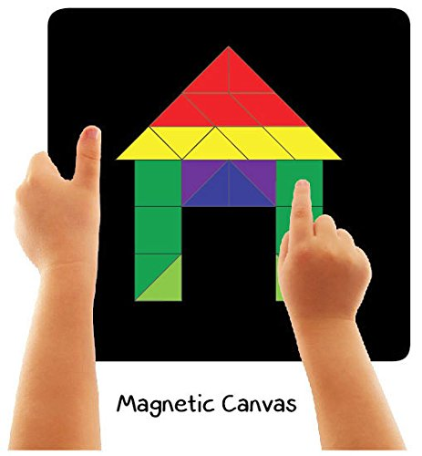 Fun Magnetic Shapes (Senior) : Type 1 with 44 Magnetic Shapes, 200 Pattern Book, Magnetic Board and Display Stand