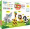 Fixi Puzzle Jungle Set 1 - 4 Make and Play Puzzles - With 240 pcs and Detailed Assembly Instructions - Small Parts (Age 6-99 Years)