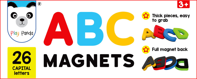 ABC Magnets Capital Letters - 26 Magnetic Letters that work on any Fridge and Dry Erase Magnetic Board - Ideal for Alphabet Learning & Spelling Games