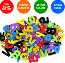 ABC Magnets Small Letters - 26 Magnetic Letters that work on any Fridge and Dry Erase Magnetic Board - Ideal for Alphabet Learning & Spelling Games - Made from Non-Toxic material with full Magnet Back