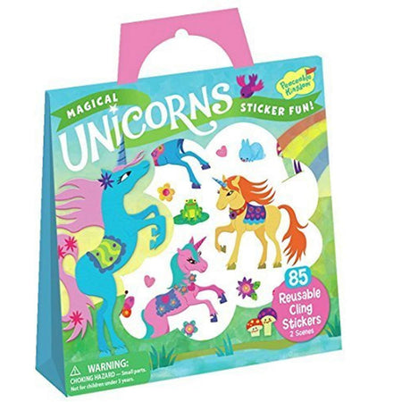 Peaceable Kingdom - Reusable Sticker Tote - Magical Unicorns