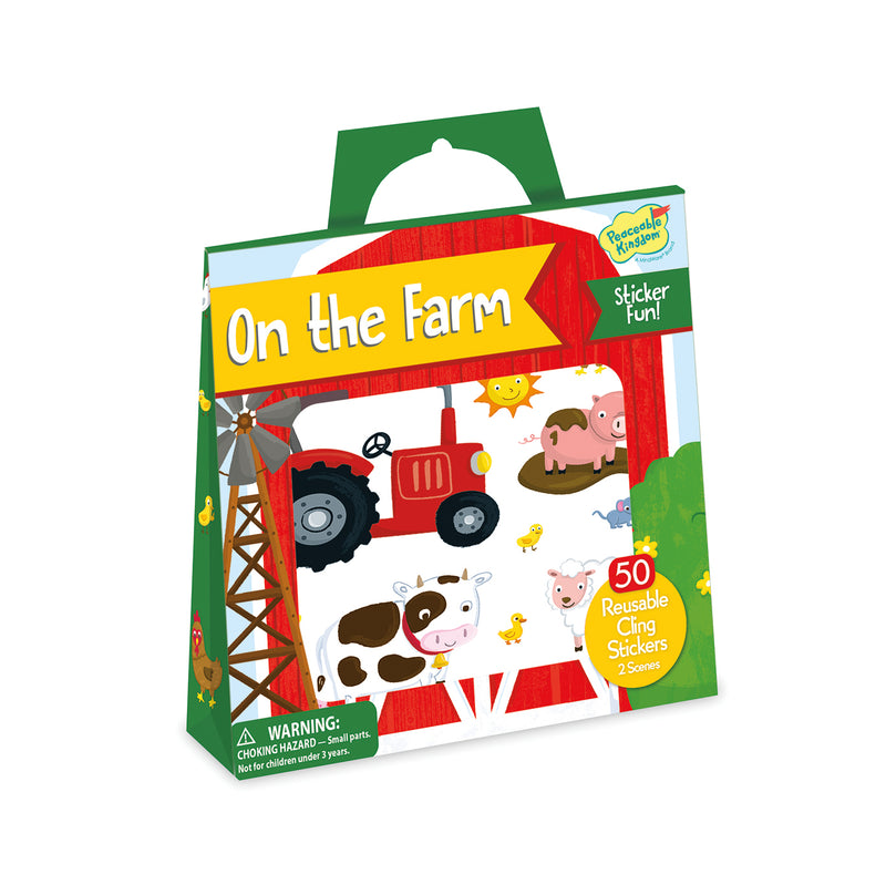 Peaceable Kingdom - Reusable Sticker Tote - On the Farm