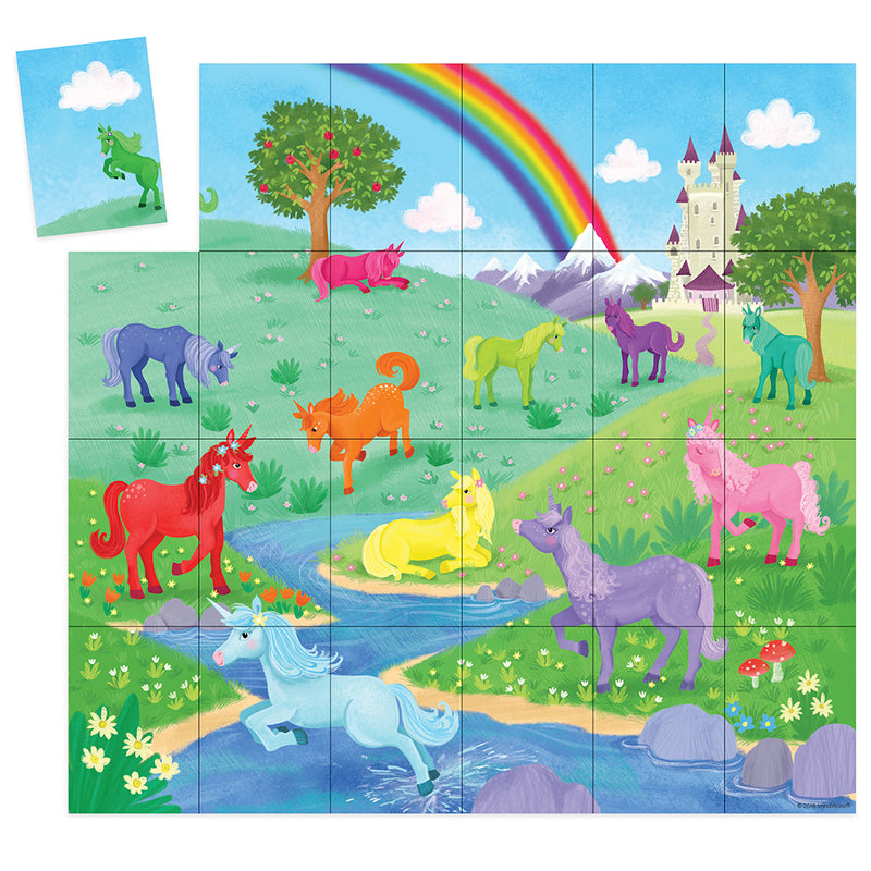 Peaceable Kingdom - Unicorns Match Up Game
