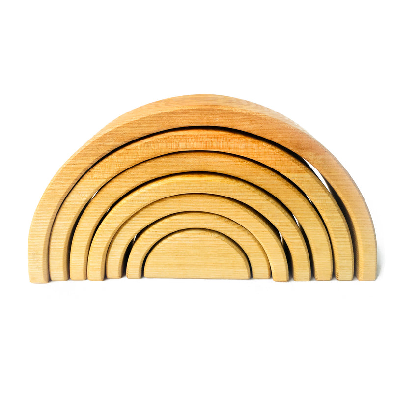 Natural Wooden Rainbow Stacker