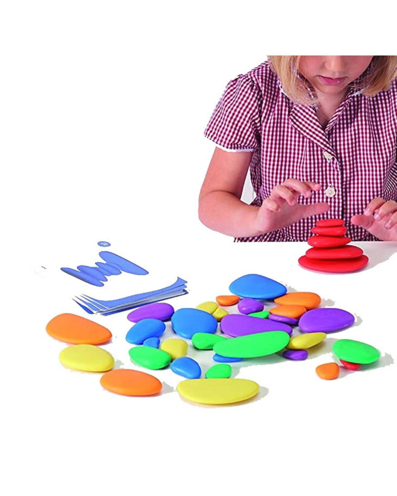 Rainbow Pebbles (36 pebbles, 20 double-sided Activity cards)