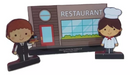 Restaurant wooden miniature