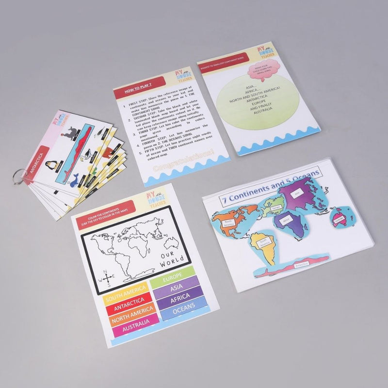 Continents And Oceans Magic Folder