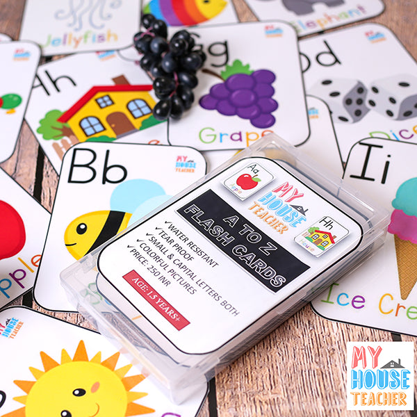 A to Z Tear Proof Flash Cards