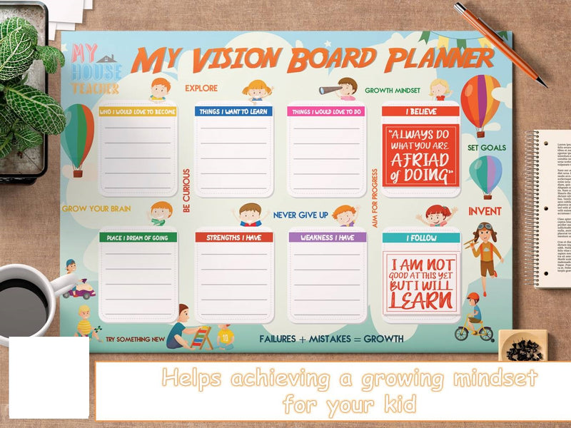 MY VISION PLANNER BOARD FOR KIDS ABOVE 7 YEARS