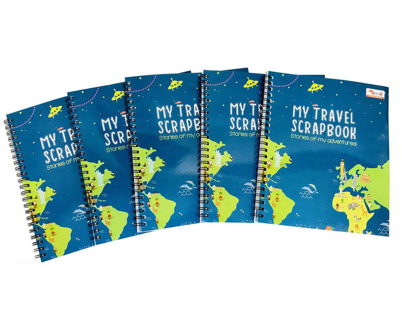 Set of 5 Pieces of Travel Scrapbook with Stickers - Return Gift Combo
