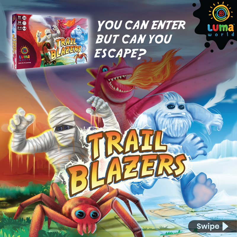 Trail Blazers: A Memory + Strategy Board Game (9+ years)