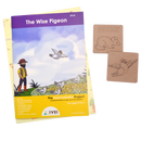 The Wise Pigeon - Workbook and 2 DIY coasters - 4 to 7 yrs
