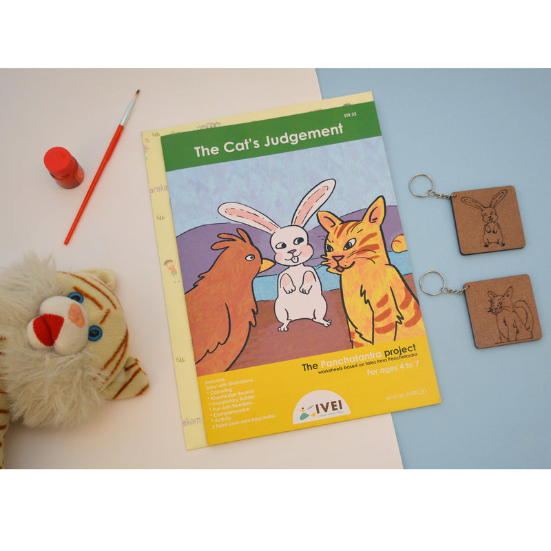 The Cat's Judgement - Workbook and 2 DIY keychains - 4 to 7 yrs