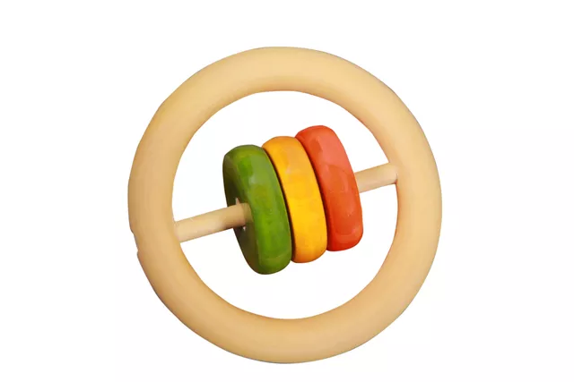 Thasvi Three Discs Rattle  (3 months +) - Touch. Feel. Explore.