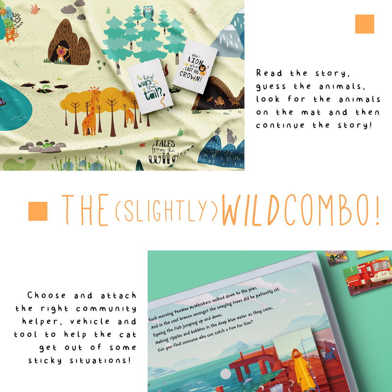 Slightly Wild - Jungle Mat + Community Helpers