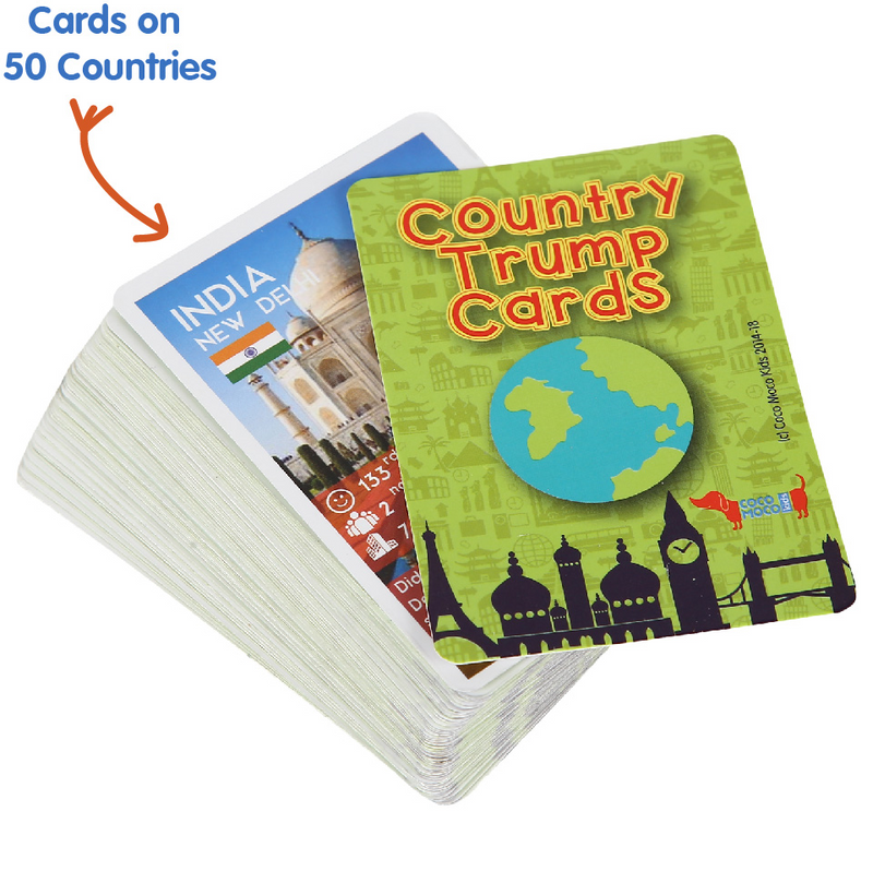 Country Trump Cards Geography Educational Game