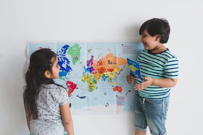 CocoMoco Kids Around the World Maps Combo Pack for 4-12  year olds